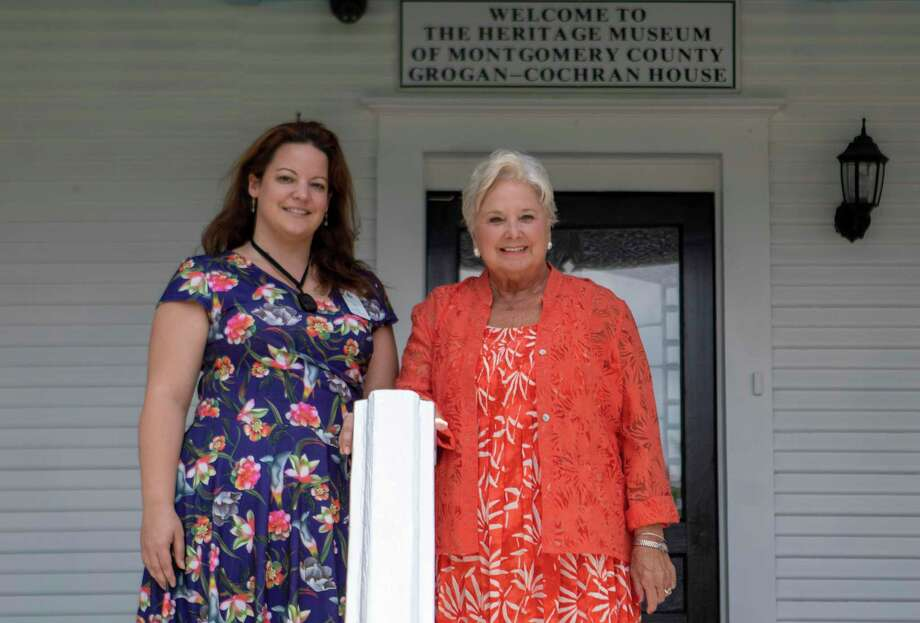 Retiring executive director Sally Copley, right, and incoming executive director Joy Montgomery stand beside each other Wednesday, August 7, 2019 at The Heritage Museum of Montgomery County in Conroe. Photo: Cody Bahn, Houston Chronicle / Staff Photographer / © 2019 Houston Chronicle