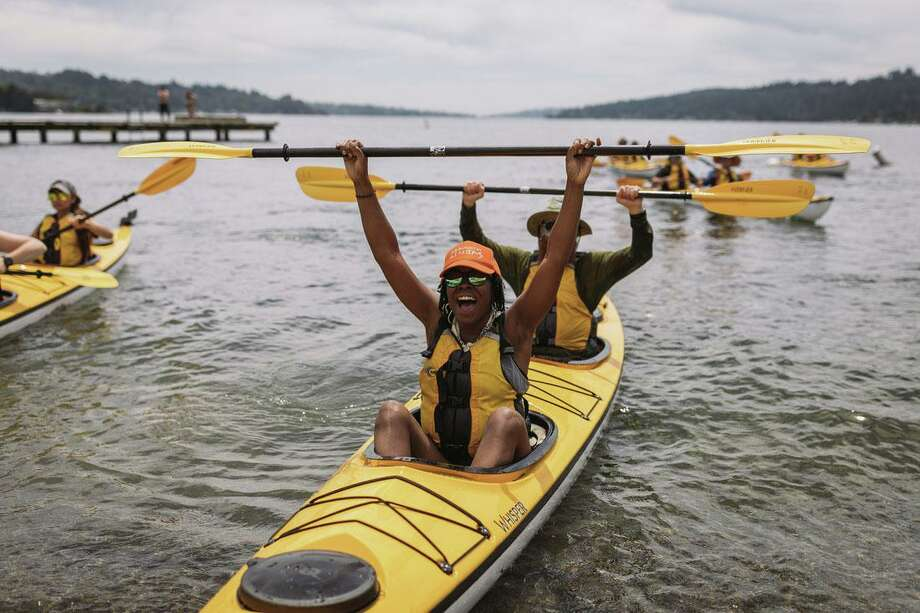 The Trust for Public Land and REI Co-op are hosting a free community event featuring guided river kayaking, yoga and food trucks at Bridgeport's Knowlton Park Aug. 17. Photo: REI / Contributed Photo
