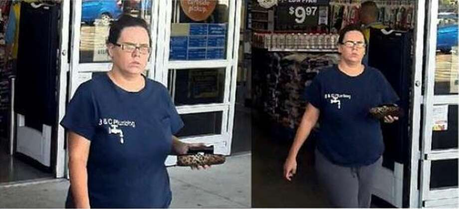 The woman seen here is wanted for allegedly stealing a Cleveland man's SUV and for trying to use his bank card to purchase Walmart gift cards in New Caney. Photo: Courtesy Of The Montgomery County Sheriff's Office