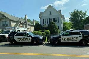 Police investigate the stabbing death of 29-year-old Norwalk resident Michael Moody, at 36 Fairfield Ave., Norwalk, Conn., Aug. 8, 2019.
