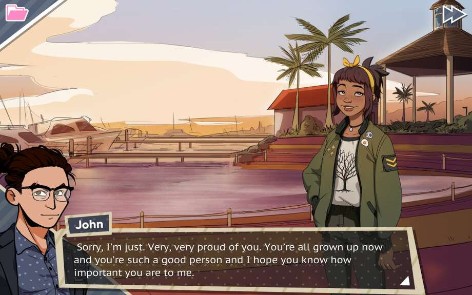 Some of the most heartwarming parts of the game are between your character and Amanda as he tries to be a good dad. Photo: Dream Daddy Game