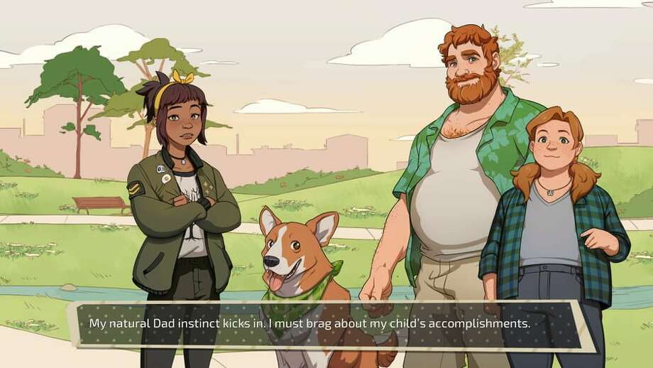 Brian, although nice, is a more competitive dad. Photo: Dream Daddy Game