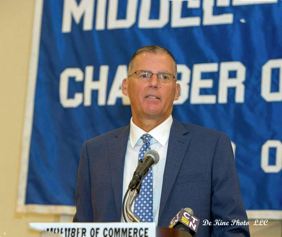 Coach Randy Edsall is the chamber's guest speaker on Aug. 22. Photo: Contributed Photo / (c)DE KINE PHOTO LLC