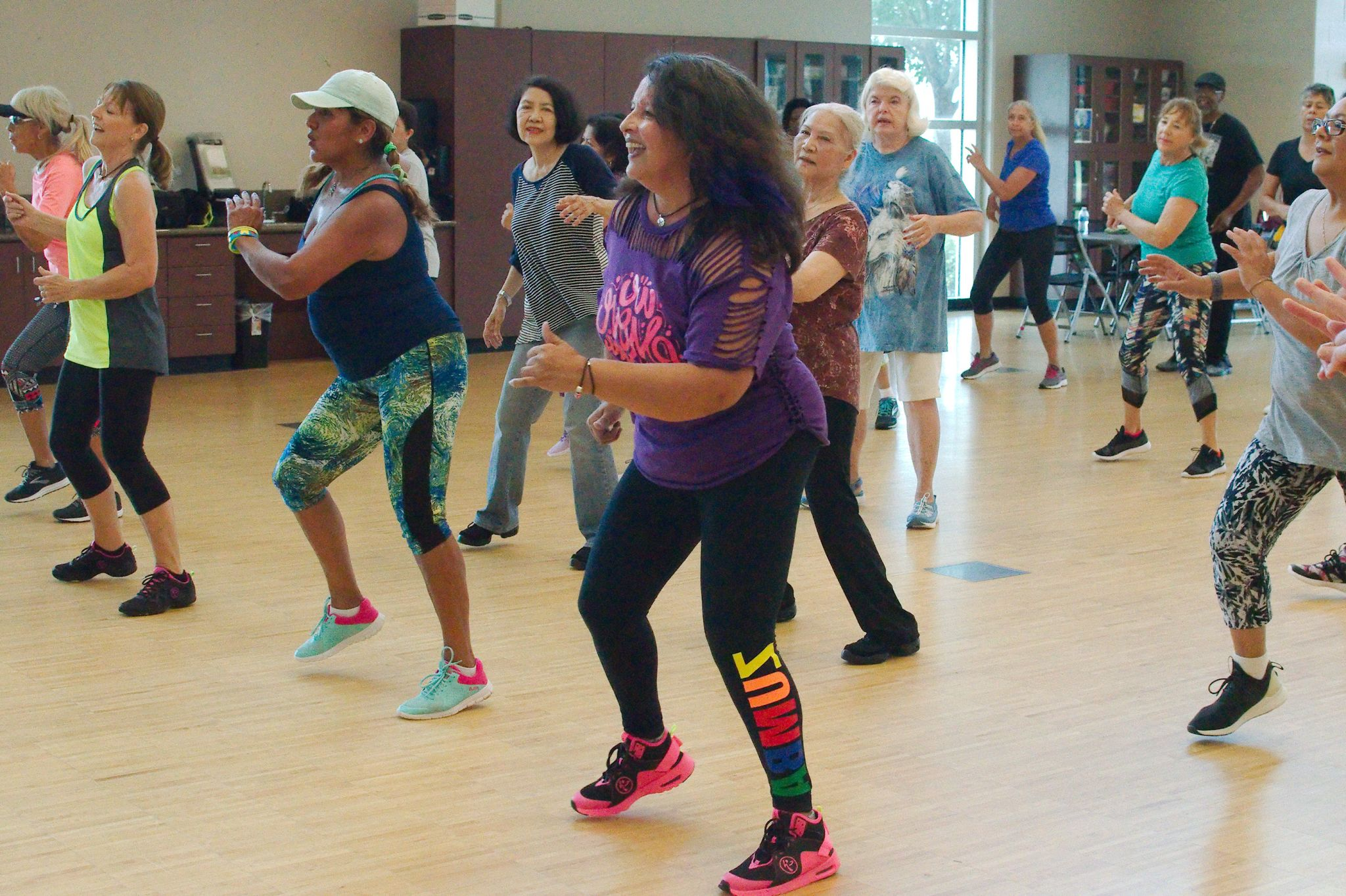 League City residents enjoy Zumba at Hometown Heroes