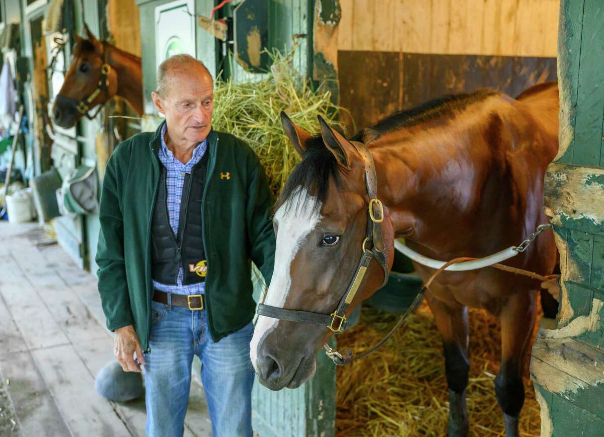 Trainer Barclay Tagg and Tiz the Law are still the frontrunners in the Derby Dozen. (Courtesy of the Jockey Club)