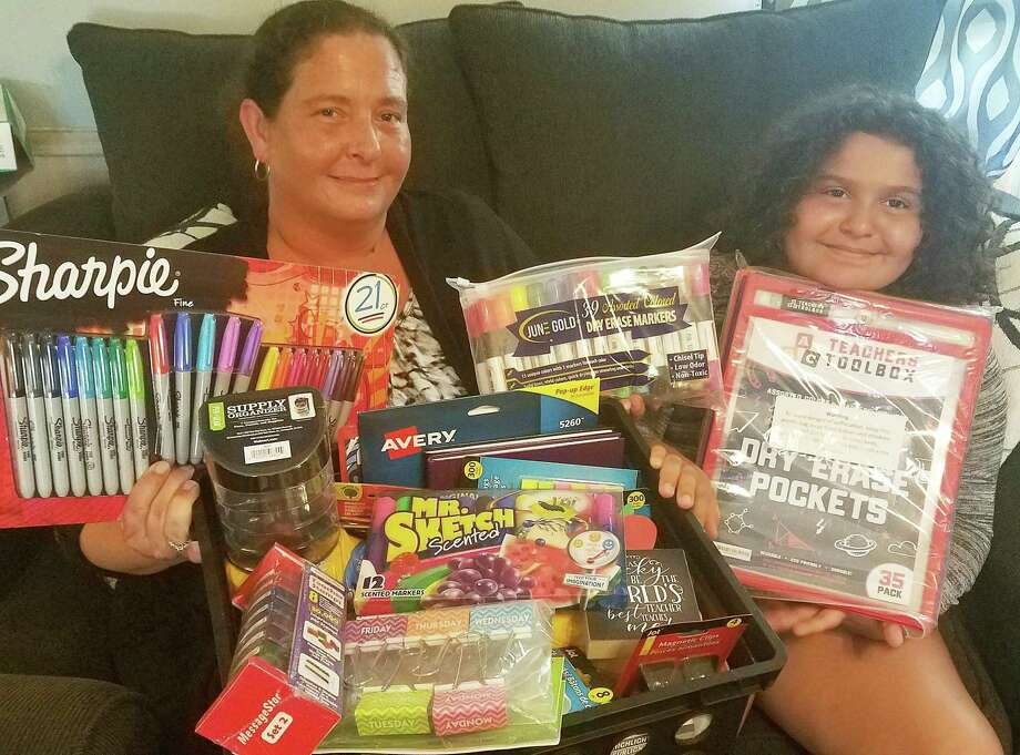 Rebecca Vega and her daughter have already donated to several teachers through their newly created Support A Dayton ISD Teacher. More than 300 members have subscribed and more are being added daily to help teachers with their wish lists of school supplies for this fall. Photo: Submitted