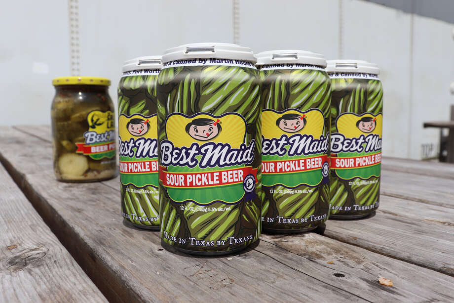 """""""We used our sour beer base mixed with their sour pickle juice to create a delicious, tart treat that will definitely make any pickle lover's day,"""" the brewery recently posted on its Facebook page. Photo: Shugg Cole"""
