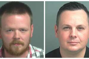 John McCaffery (left) and Kenneth Elmore were sentenced this week to a year in jail after being convicted of falsifying documents.