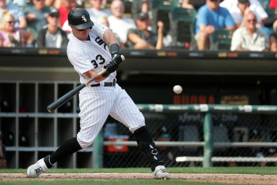 Chicago White Sox's James McCann hits a grand slam off Houston Astros relief pitcher Ryan Pressly during the eighth inning of a baseball game Wednesday, Aug. 14, 2019, in Chicago. (AP Photo/Charles Rex Arbogast) Photo: Charles Rex Arbogast, Associated Press / Copyright 2019 The Associated Press. All rights reserved