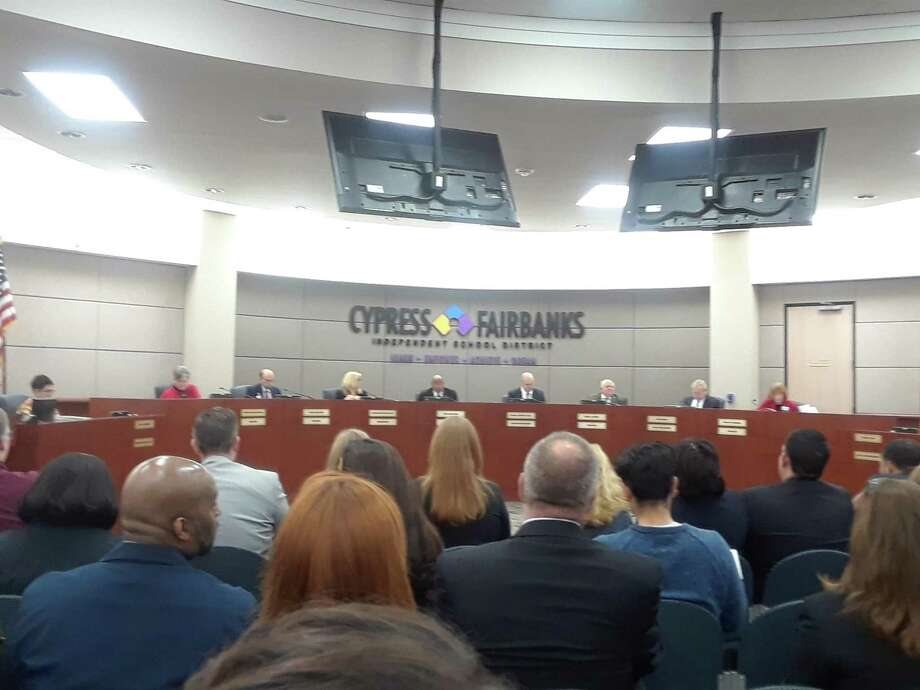 During the regular of the Cy-Fair Board of Trustees on Feb. 11, 2019, the board approved a bond election to be held on May 4 for a $1.76 billion bond, the second largest in state school district history. Photo: Chevall Pryce
