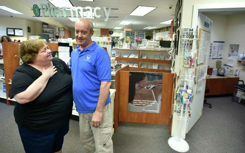 Branford, Connecticut - Wednesday, August 14, 2019: Owned by Karen W. Ragonese and founded by her father William Ward, Towne Pharmacy of Branford closes for good Wednesday after 54 years of serving the residents in the greater Branford area. The Towne Pharmacy Durable Medical Equipment business, owned by Vincent Ragonese, will be housed in the same location under the same management but with the new name