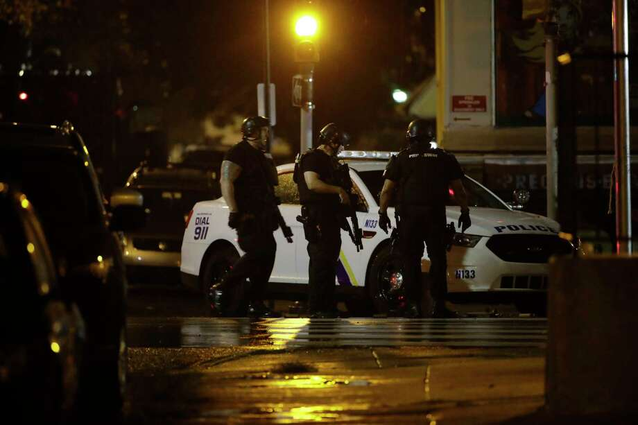 Police continue their investigation of an active shooting situation, late Wednesday, Aug. 14, 2019, in Philadelphia. (AP Photo/Matt Rourke) Photo: Matt Rourke / Copyright 2019 The Associated Press. All rights reserved.