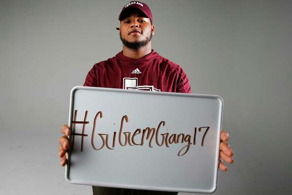 Texas A&M recruit Camron Horry poses for a portrait Sunday, Jan. 22, 2017 in Houston.