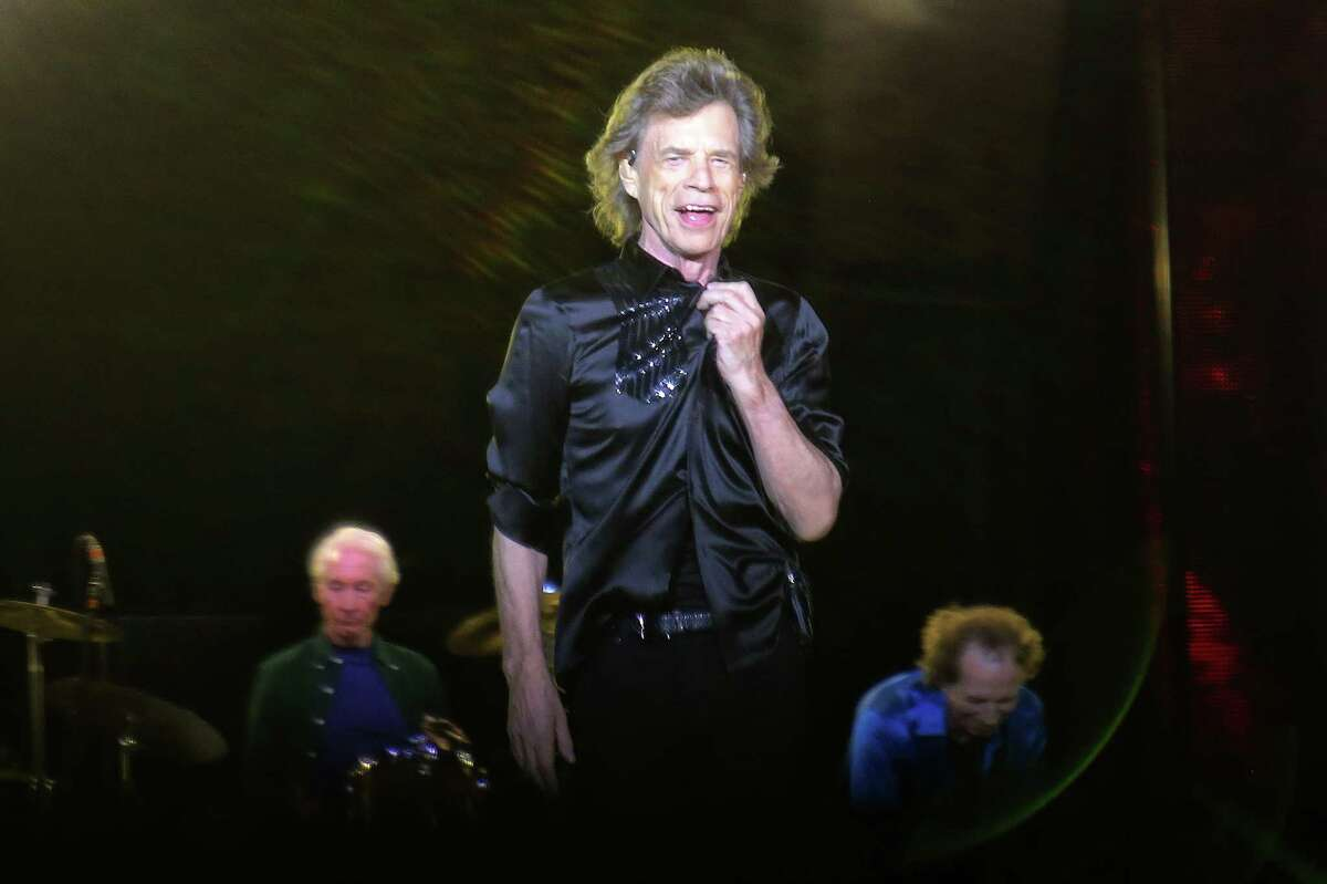 The Rolling Stones, including Mick Jagger, Keith Richards, Ronnie Wood and Charlie Watts, perform in Seattle at CenturyLink Field on their No Filter tour for the first time since 2006, Aug. 14, 2019. The tour was postponed after 76-year-old frontman Mick Jagger underwent an emergency heart valve replacement.