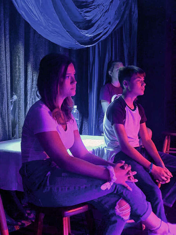 Members of the cast of the Youth Theatre Gala Cabaret rehearse at Playhouse on the Square, where the show will run Friday through Sunday. The cabaret is set to be the Playhouse's last show before the theater closes its doors. Photo: Photo Provided