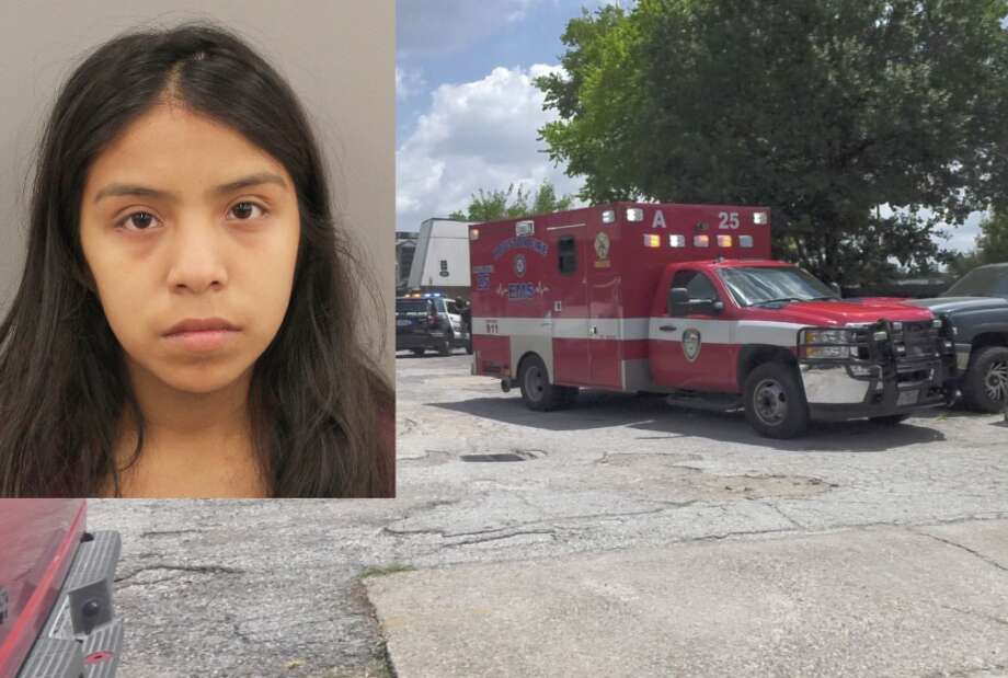 Gissel Vazquez, 18, was charged with state-jail felony endangering a child after her 1-year-old boy was struck and killed by a driver in the parking lot of the Big Red Apartments in the 6300 block of Tierwester on Wednesday, Aug. 15, 2019. Photo: Jay R. Jordan / Houston Chronicle; Booking Photo Courtesy Houston Police Department