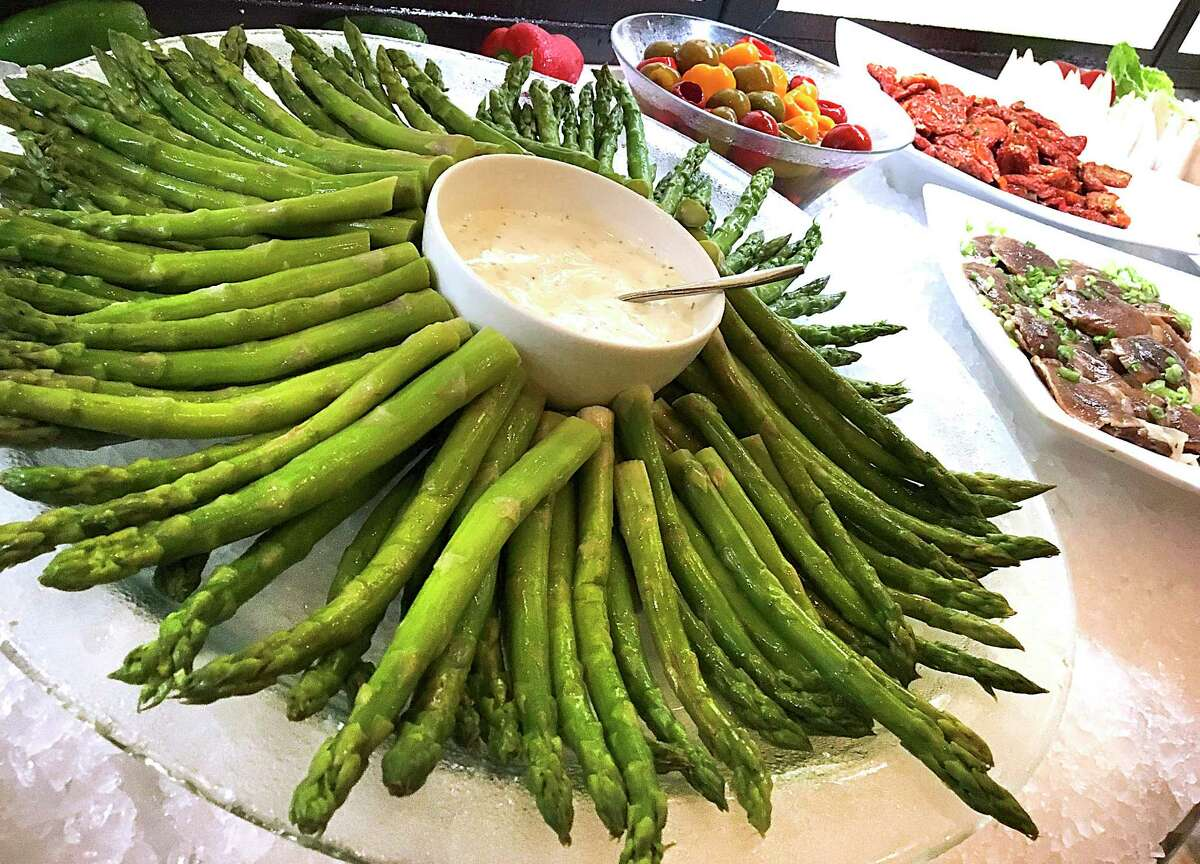Asparagus is one of the stars of the salad bar at Brasão Brazilian Steakhouse.
