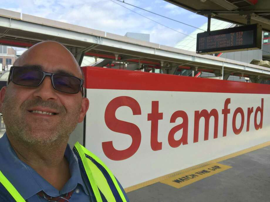 Anthony Scasino is a Metro-North Customer Service Ambassador at the Stamford train station. Photo: Contributed Photo