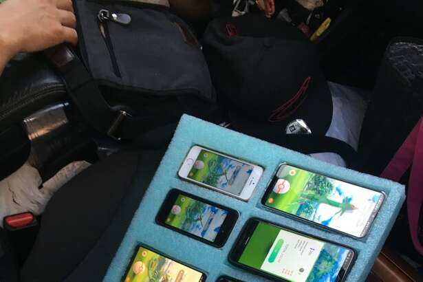 A Washington state trooper found a driver with eight phones simultaneously playing the video game Pokemon Go.