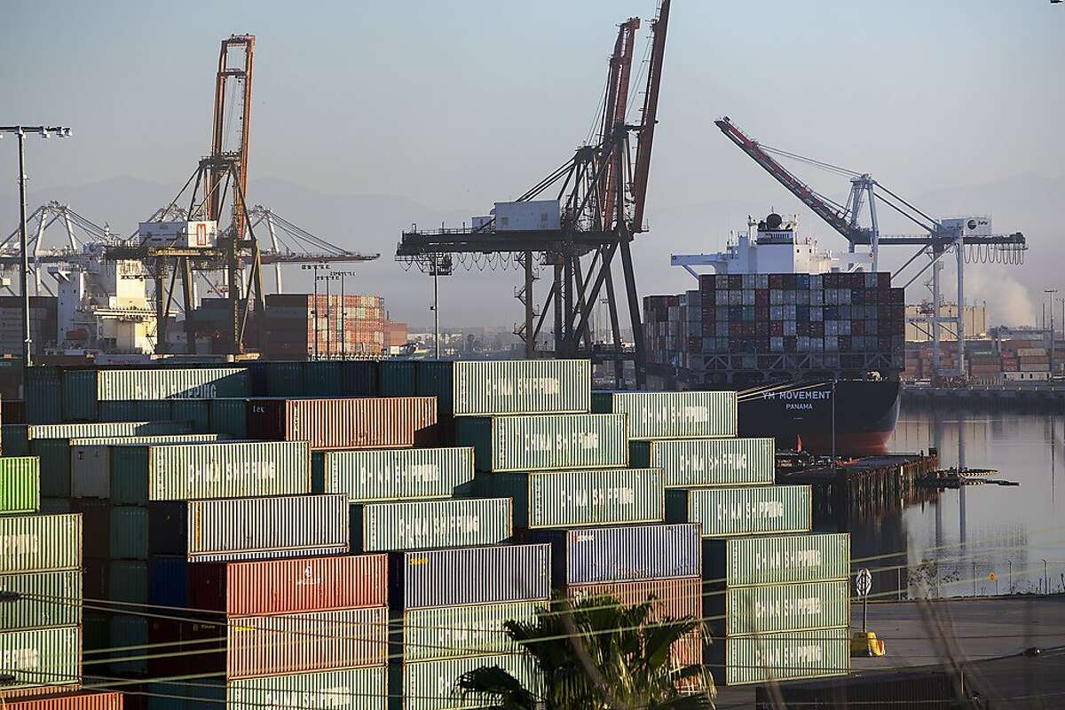 FILE � Cargo ship containers at the Port of Los Angeles, Feb. 10, 2015. The Trump administration on Aug. 13, 2019, narrowed the list of Chinese products it plans to impose new tariffs on as of Sept. 1, delaying levies on cellphones, laptop computers, toys and other goods and announcing exclusions for other products for reasons of health, safety and national security. The administration said that a new 10 percent tariff on roughly half the Chinese goods imported into the U.S. would still take effect on Sept. 1 as announced by President Donald Trump. (Monica Almeida/The New York Times)