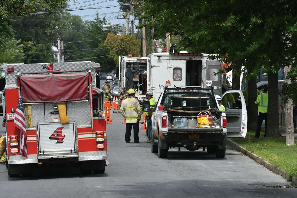 A ruptured gas line prompted the evacuation of homes in the vicinity of Ingalls and Seventh avenues on Thursday, Aug. 15, 2019.
