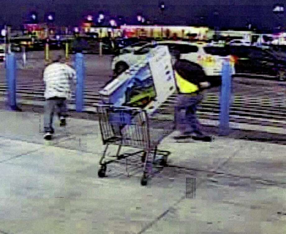 According to E. Tay Bond, who was representing Nathan Freeman, Freeman and his codefendant were captured on surveillance cameras leaving a store with a 50-inch television in a shopping cart Jan. 20. When store employees went after Freeman, he fled the area leaving the television behind. Photo: Courtesy Image