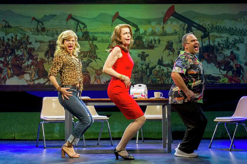 From left, Felicia Finley, Ellen Harvey and Eliseo Román in the world premiere of