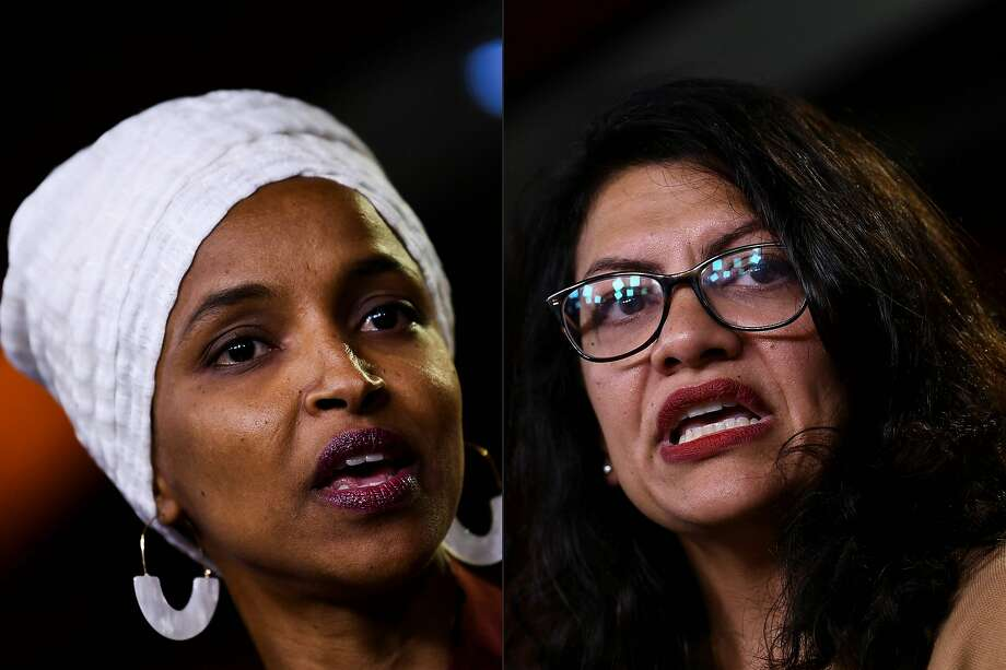 Israel has barred Ilhan Omar (left) and Rashida Tlaib over their support of a boycott movement. Photo: Brendan Smialowski / AFP / Getty Images