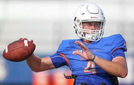 USA: TX: Houston: HBU quarterback Bailey Zappe (4) during practice on August 14, 2019 at HBU in Houston, TX.