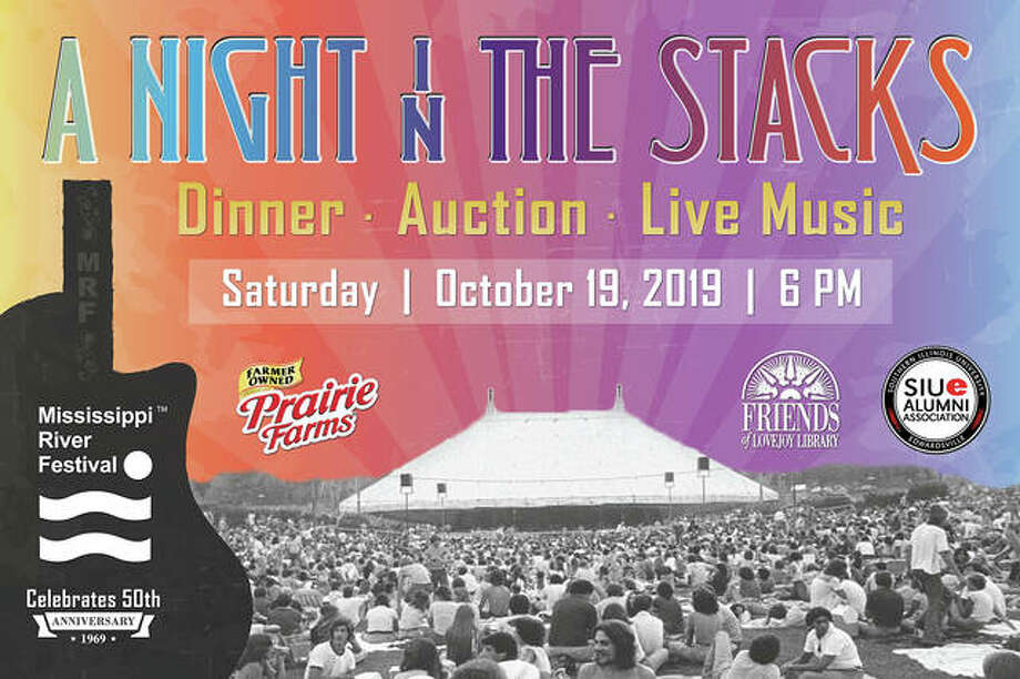 "The annual ""Night in the Stacks"" fundraiser on Oct. 19 at SIUE's Lovejoy Library will celebrate the 50th anniversary of the Mississippi River Festival. Photo: For The Intelligencer"