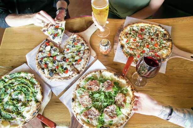 A selection of pizzas from 188 South in New Braunfels.