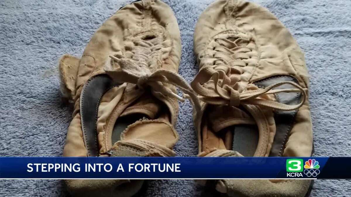Dave Russell of Arden-Arcade in Sacramento was shocked when he learned how much a 47-year-old pair of Nike running shoes in his garage was worth.