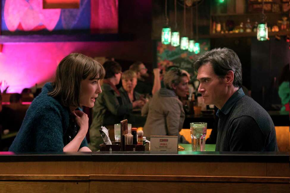 This image provided by Annapurna Pictures shows Cate Blanchett, left, as Bernadette Fox and Billy Crudup as Elgie Branch in Richard Linklater's