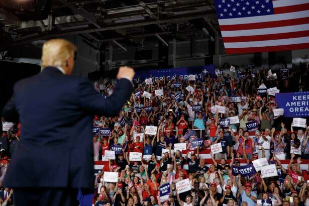 """Crowd size matters to Donald Trump. He filled the house at a rally in Greensville, N.C., in July where his supporters chanted """"send her back"""" at the mention of Congresswoman Ilhan Omar."""