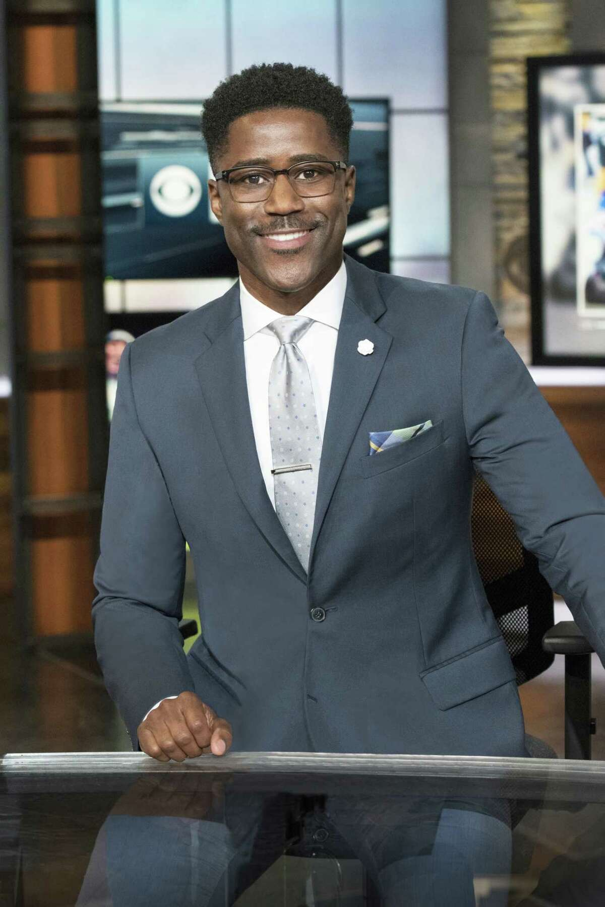 NFL TODAY Analyst Nate Burleson Photo: John Paul Filo/CBS c.2017 CBS Broadcasting Inc. All Rights Reserved.