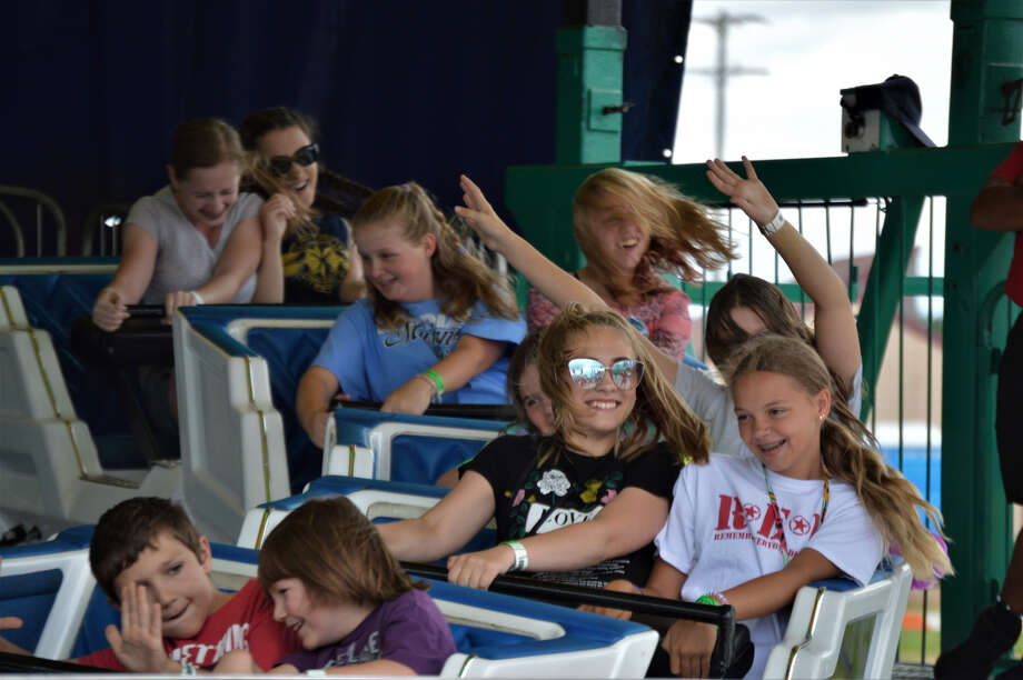A little rain in the morning didn't keep these patrons from enjoying an afternoon at the Midland County Fair on Thursday, Aug. 15, 2019 (Ashley Schafer/ashley.schafer@hearstnp.com) Photo: Ashley Schafer