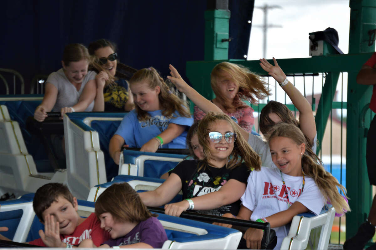 A little rain in the morning didn't keep these patrons from enjoying an afternoon at the Midland County Fair on Thursday, Aug. 15, 2019 (Ashley Schafer/ashley.schafer@hearstnp.com)