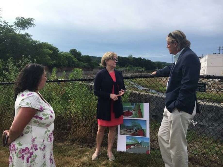State Sen. Kevin Witkos (R-Canton) recently met with Torrington Mayor Elinor Carbone and Economic Development Director Rista Malanca to tour the Opportunity Zone in Torrington and discuss the potential for redevelopment in that area. Photo: Contributed Photo