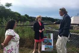 State Sen.Kevin Witkos (R-Canton) recently met with Torrington Mayor Elinor Carbone and Economic Development Director Rista Malanca to tour the Opportunity Zone in Torrington and discuss the potential for redevelopment in that area.