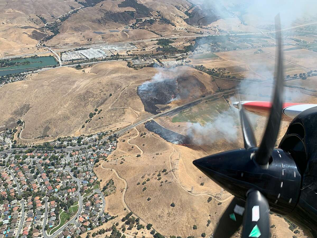 A wildfire in South San Jose had burned 30 acres, according to Cal Fire.