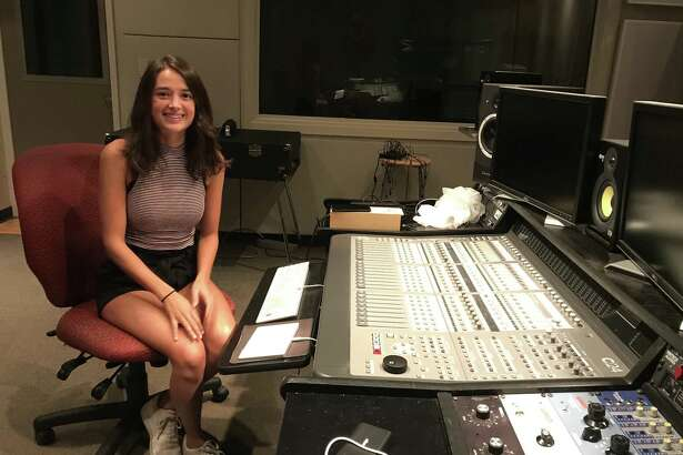 Juliana Castrillon inside a studio the College of Saint Rose (photo by Amy Biancolli)