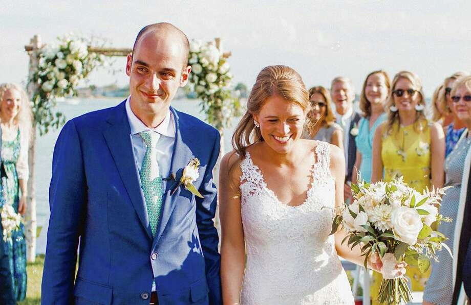 Dr. Samuel Miller and Kimberly Michelle Glerum were married Friday, Aug. 9, in Westport. Contributed photo Photo: Contributed Photo / New Canaan Advertiser Contributed