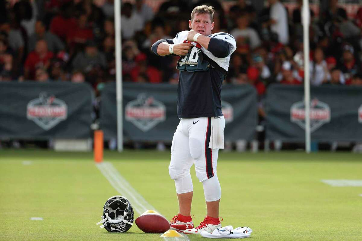 Houston Texans long snapper Jon Weeks, getting ready for a practice recently, knows he has to earn his job every day.