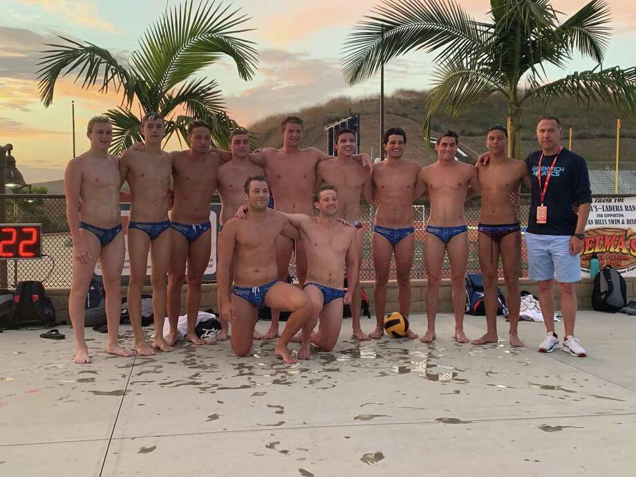 Greenwich Aquatics' 18-under boys team placed first in the Gold Division at the 2019 USA Water Polo National Junior Olympics in Irvine, Calif. Photo: Contributed Photo /Contributed Photo