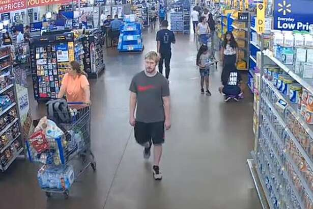 Video surveillance shows a man who allegedly groped two girls in separate Walmart stores in south Montgomery County.