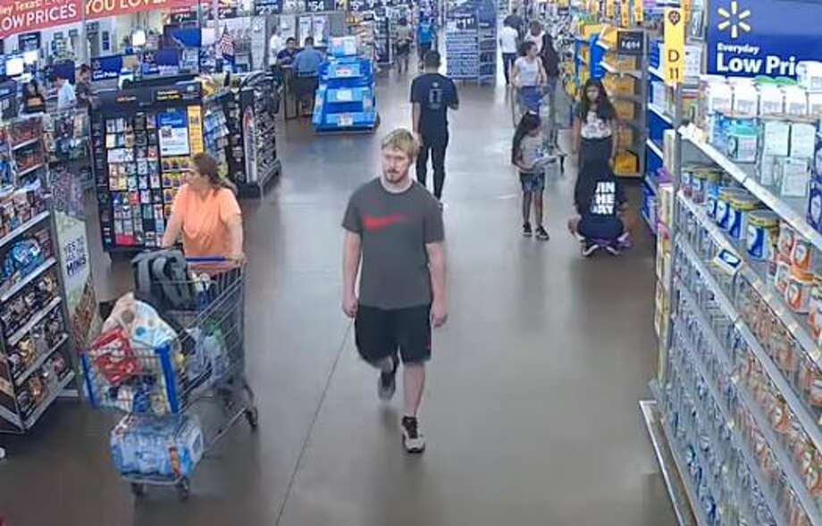 Video surveillance shows a man who allegedly groped two girls in separate Walmart stores in south Montgomery County. Photo: Courtesy Of The Montgomery County Sheriff's Office