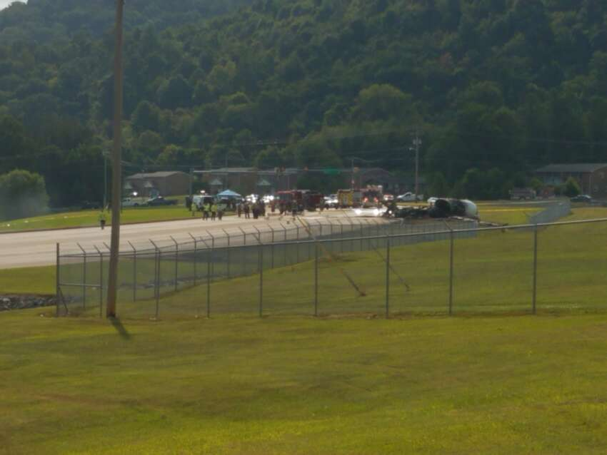 A plane carrying Dale Earnhardt, Jr., his wife Amy, and their daughter Isla reportedly survived a crash after landing at an airport near Bristol, Tennessee Thursday, August 15, 2019.