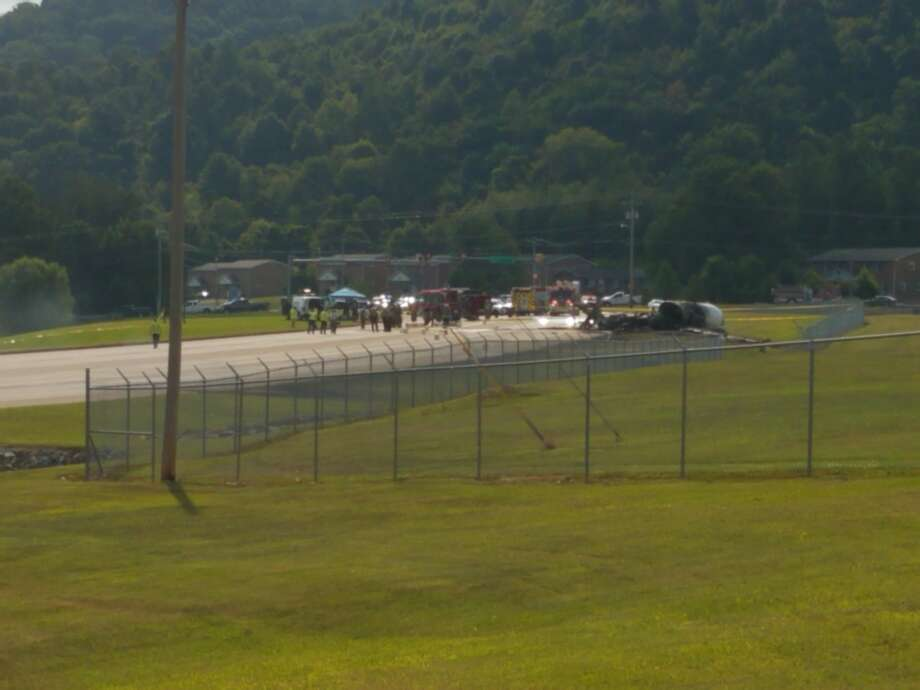 A plane carrying Dale Earnhardt, Jr., his wife Amy, and their daughter Isla reportedly survived a crash after landing at an airport near Bristol, Tennessee Thursday, August 15, 2019. Photo: Carter County Sheriff's Office