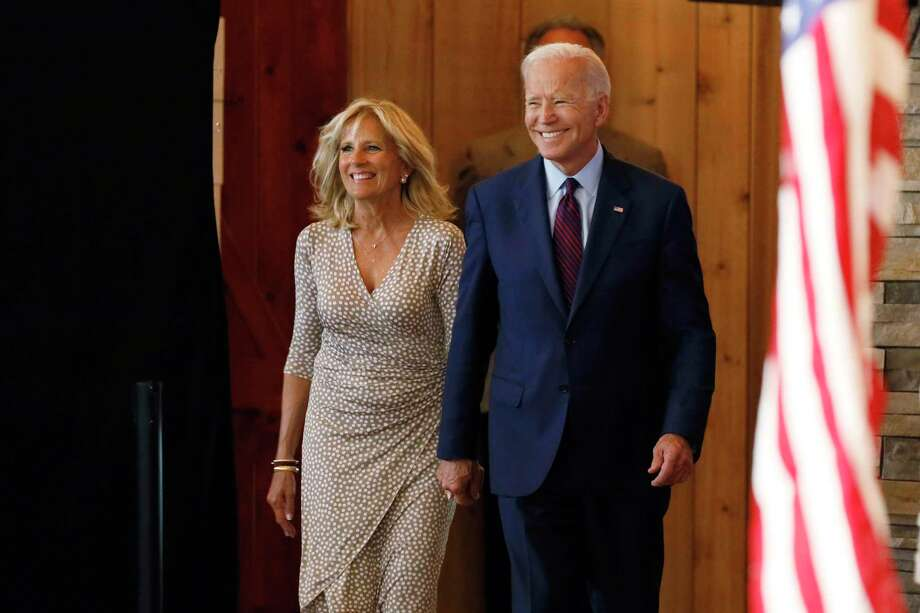 Democratic presidential candidate former Vice President Joe Biden arrives with his wife Jill to speak at a community event, Wednesday, Aug. 7, 2019, in Burlington, Iowa. Photo: Charlie Neibergall / Associated Press / Copyright 2019 The Associated Press. All rights reserved