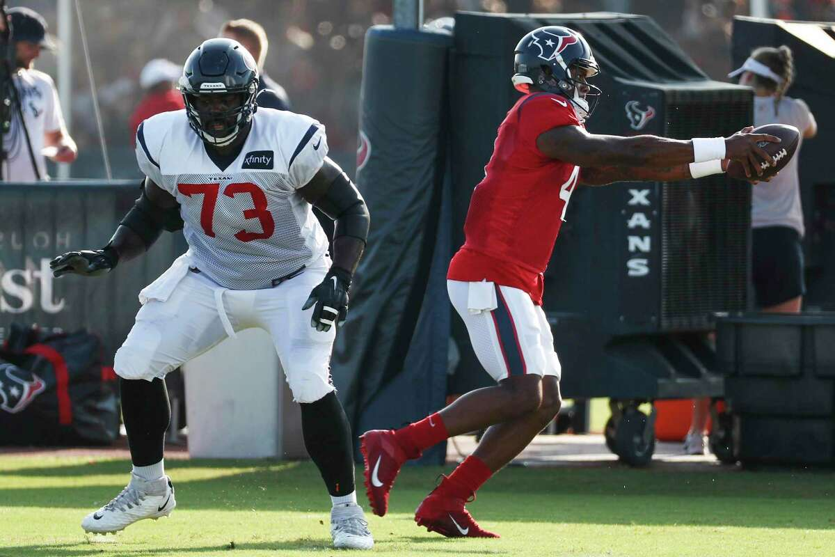 PHOTOS: Players from Houston who made 2019 NFL rosters  Texans quarterback Deshaun Watson works on handoff techniques after taking a snap from Zach Fulton, left, during Thursday's practice. >>>Here's a look at all the players from Houston area high schools who made an NFL roster for the 2019 season ...